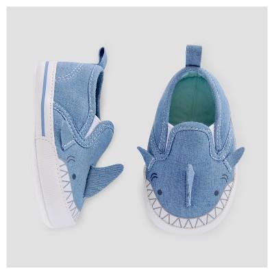 Baby Boys' Shark Slip On Sneakers - Cat & Jack™ Blue 0-3 Months