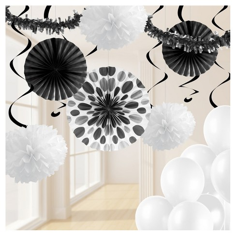 Black And White Party Decorations Kit Target