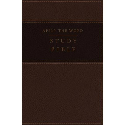 NKJV, Apply the Word Study Bible, Large Print, Imitation Leather, Brown, Indexed, Red Letter Edition - image 1 of 1