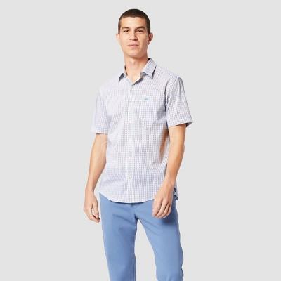 Dockers Men's Plaid Short Sleeve Button-Down Shirt