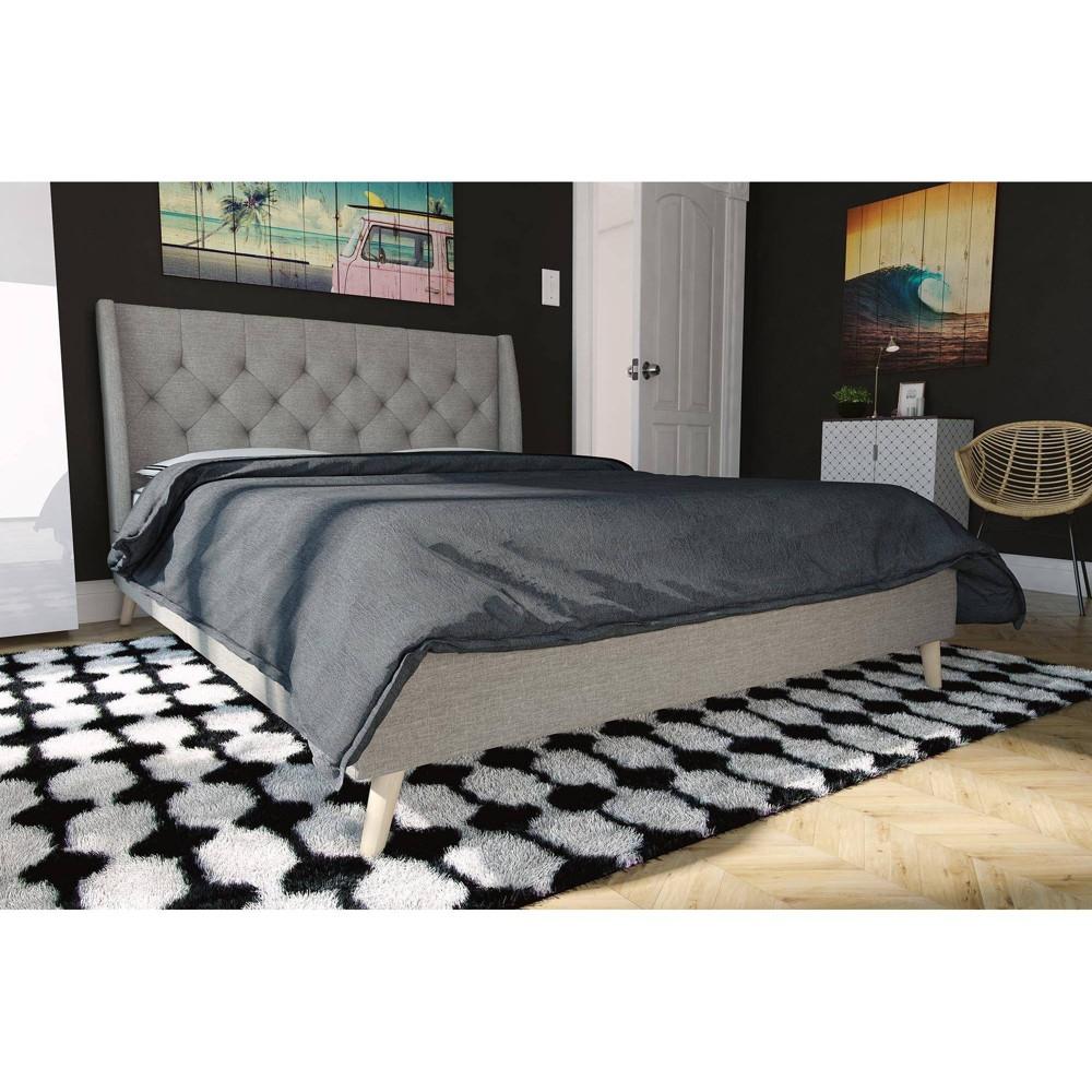 Image of Full Her Majesty Bed Gray - Novogratz