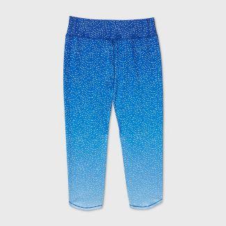Girls' Ombre Printed Capri Leggings - All in Motion™ Blue S