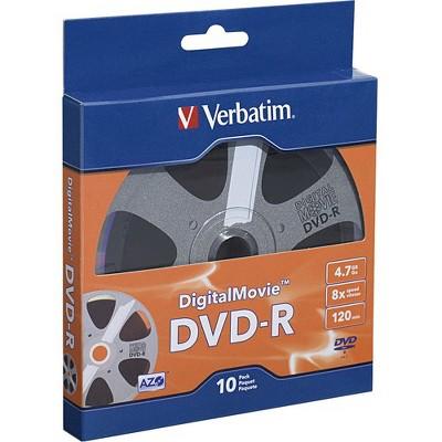 Verbatim DVD-R 4.7GB 8X with DigitalMovie Surface - 10pk Bulk Box - 120mm - 2 Hour Maximum Recording Time