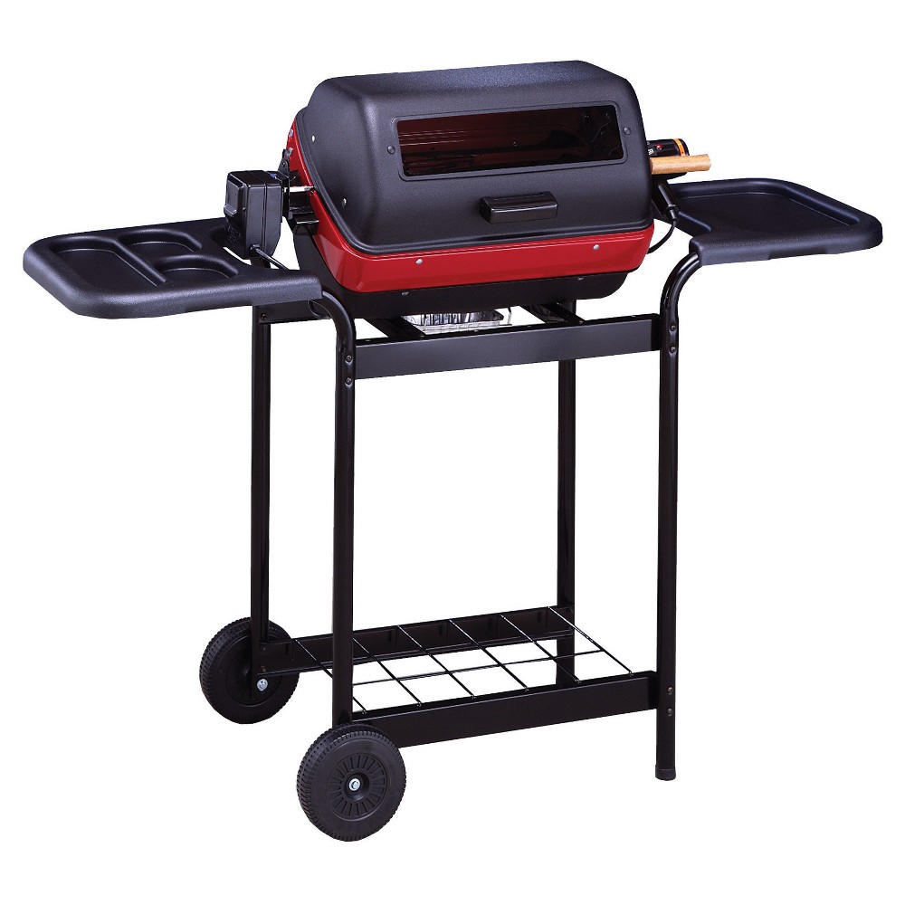 Easy Street Electric Cart Grill with Polymer Side Tables – Model – 9350W5.181, Black 52716325