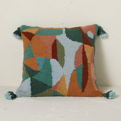 Abstract Punch Needle Square Throw Pillow Multi - Opalhouse™ designed with Jungalow™