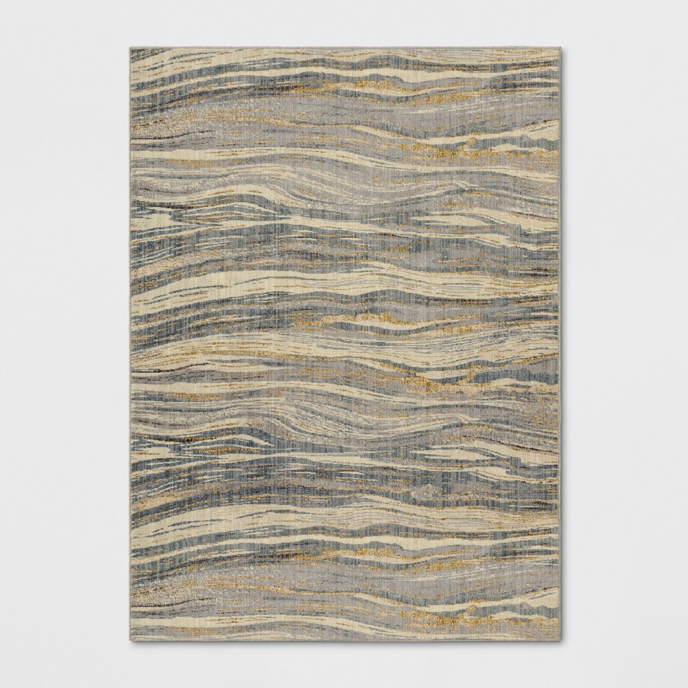 7'X10' Woven Marble Area Rug - Project 62, Multi-Colored
