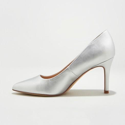 ed30767d806c Women s Gemma Wide Width Pointed Toe Heel Pumps - A New Day™ Silver ...