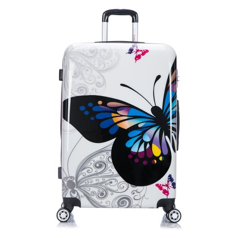 "InUSA PRINTS 28"" Hardside Spinner Suitcase - Butterfly - image 1 of 1"