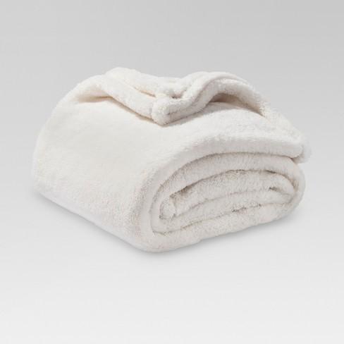 target throw blanket Fuzzy Throw Blanket Cream   Threshold™ : Target target throw blanket