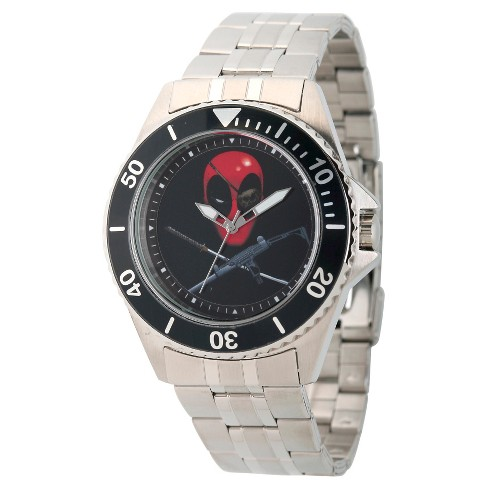 Men's Marvel's Deadpool Honor Stainless Steel Watch - Silver - image 1 of 2