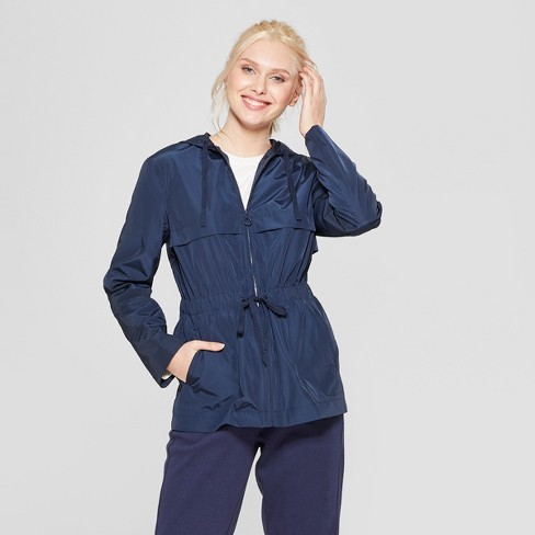 Women's Long Sleeve Anorak Jacket - A New Day™ Navy XXL - image 1 of 3