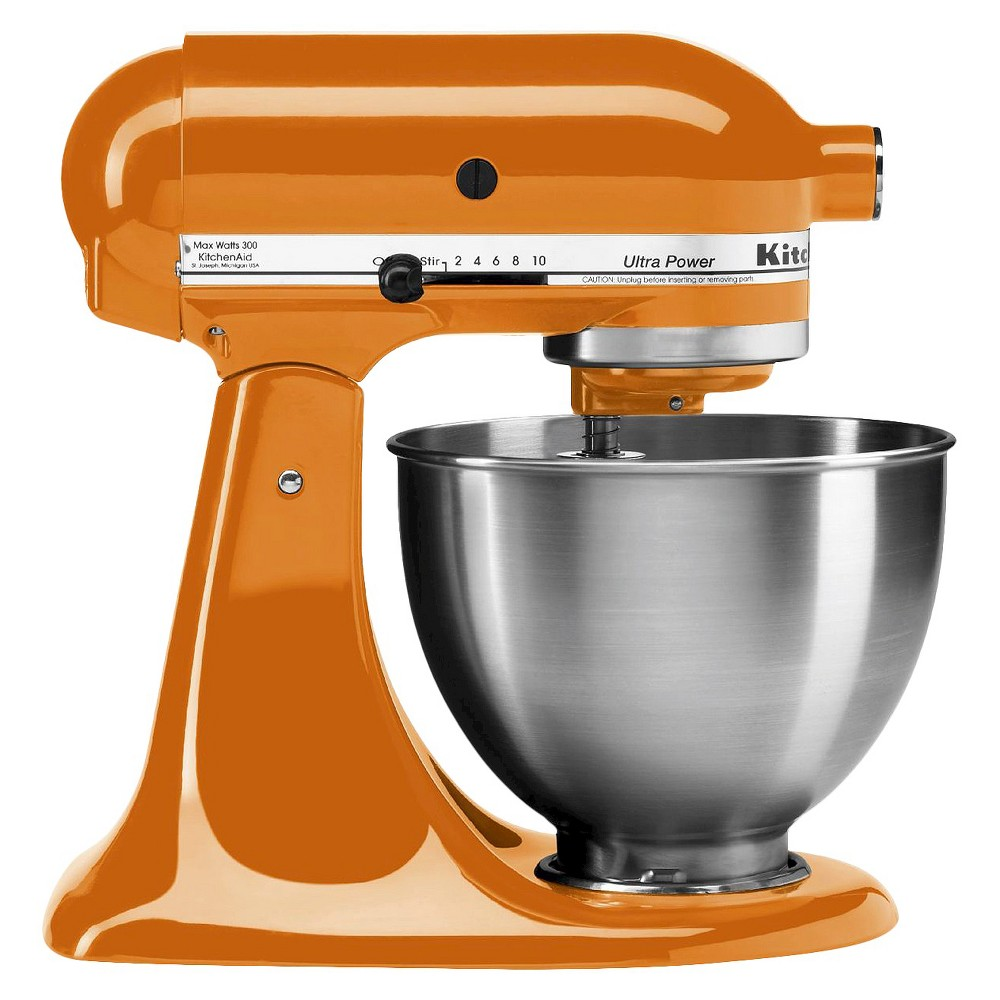 KitchenAid Ultra Power 4.5 Quart Stand Mixer Tangerine Orange - KSM95 Make up to 6 dozen cookies in a single batch with the KitchenAid Ultra Power Series 4.5 Quart Tilt-Head Stand Mixer. This mixer also features 10 speeds to thoroughly mix, knead and whip ingredients quickly and easily. For even more versatility, use the power hub to turn your stand mixer into a culinary center with over 10 optional hub powered attachments, from food grinders to pasta makers and more. Color: Tangerine.