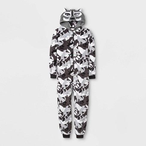 Boys' Wolf Union Suit - Cat & Jack™ Gray - image 1 of 1
