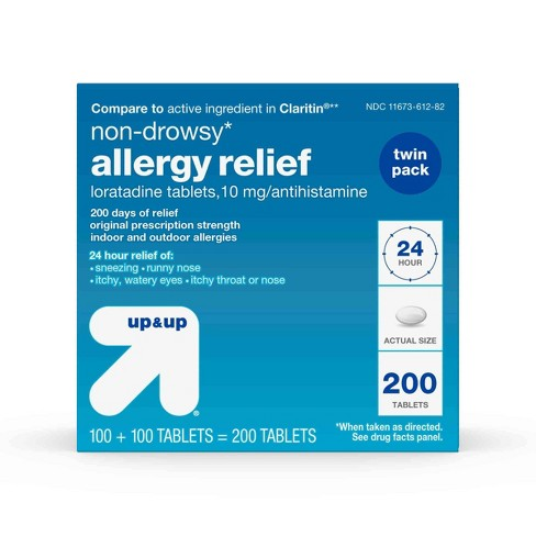 Loratadine Allergy Relief Tablets - 200ct - Up&Up™ - image 1 of 4