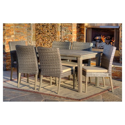 The-HOM Winchester 7-Piece Patio Dining Set Antique Gray with Beige Cushions - image 1 of 13