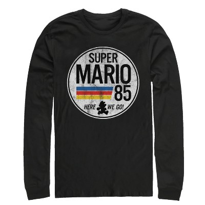 Men's Nintendo Super Mario Retro Rainbow Ring Long Sleeve Shirt