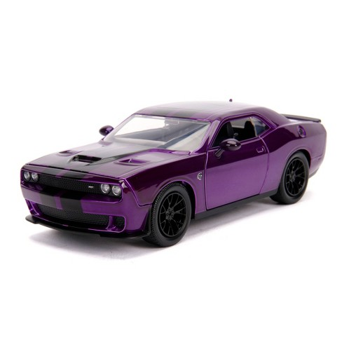Jada Toys Big Time Muscle 2015 Dodge Challenger SRT Hellcat Die-Cast Vehicle 1:24 Scale Candy Purple - image 1 of 4