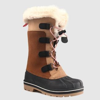 Girls' Constance Winter Boots - Cat & Jack™ Tan 1