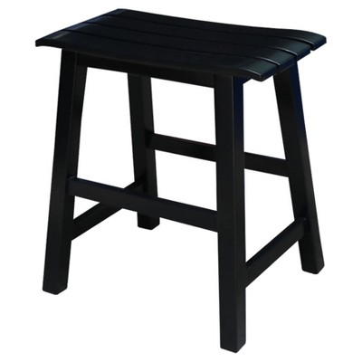 Slat Seat 18  Stool - Black - International Concepts