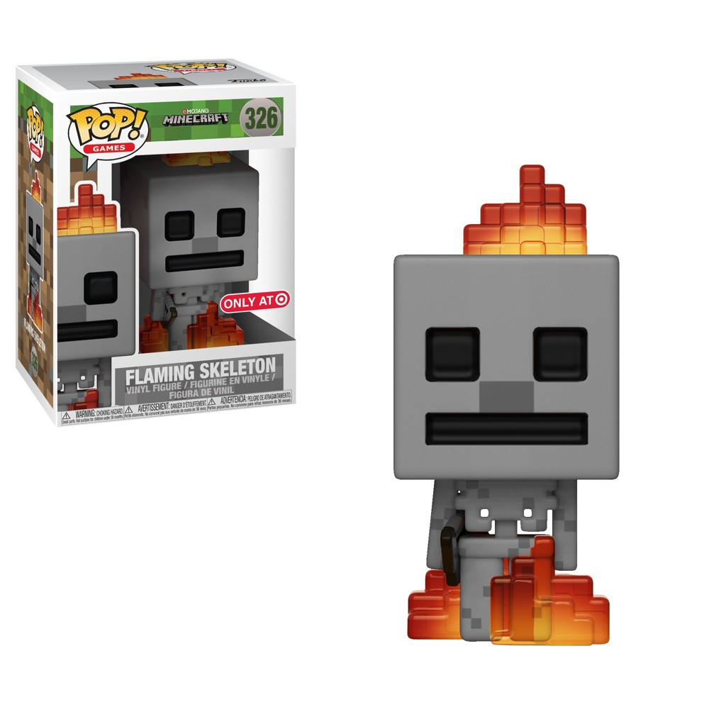 Funko Pop! Games: Minecraft - Skeleton with Fire