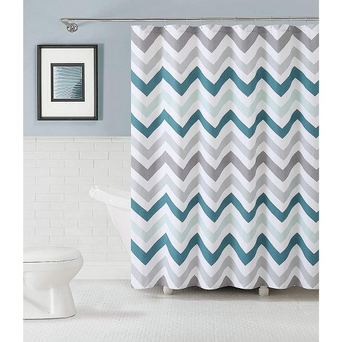 Kate Aurora Living 100% Cotton Chevron Fabric Shower Curtains - image 1 of 1