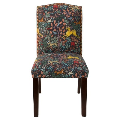 Ayla Nail Button Dining Chair - Frolic Navy - Skyline Furniture