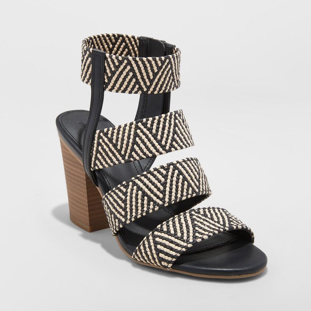 Women's Emely Huarache Sandals - Universal Thread Black 5