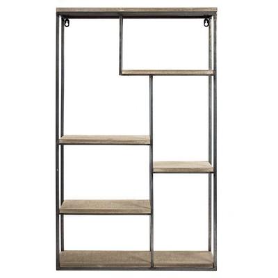 32.5  x 20.2  Decorative Wall Shelf Gray - E2 Concepts
