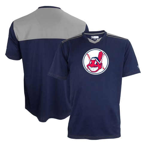 new product 7a6e4 a1e68 Cleveland Indians Men's Team Logo Pullover Practice Jersey - XL