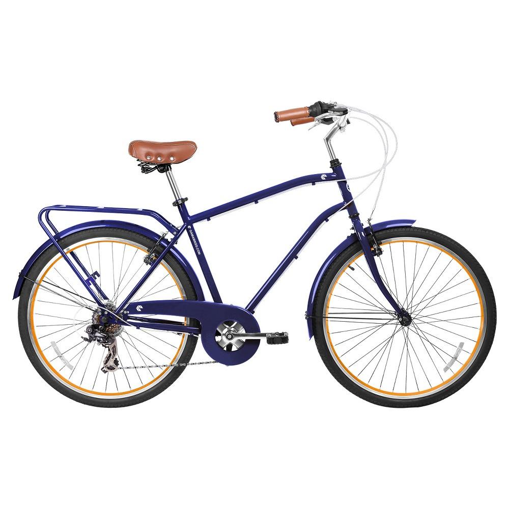 Gama Bikes Men's Commuter 26 7-Speed Urban Hybrid Commuter - Azul Chic, Blue