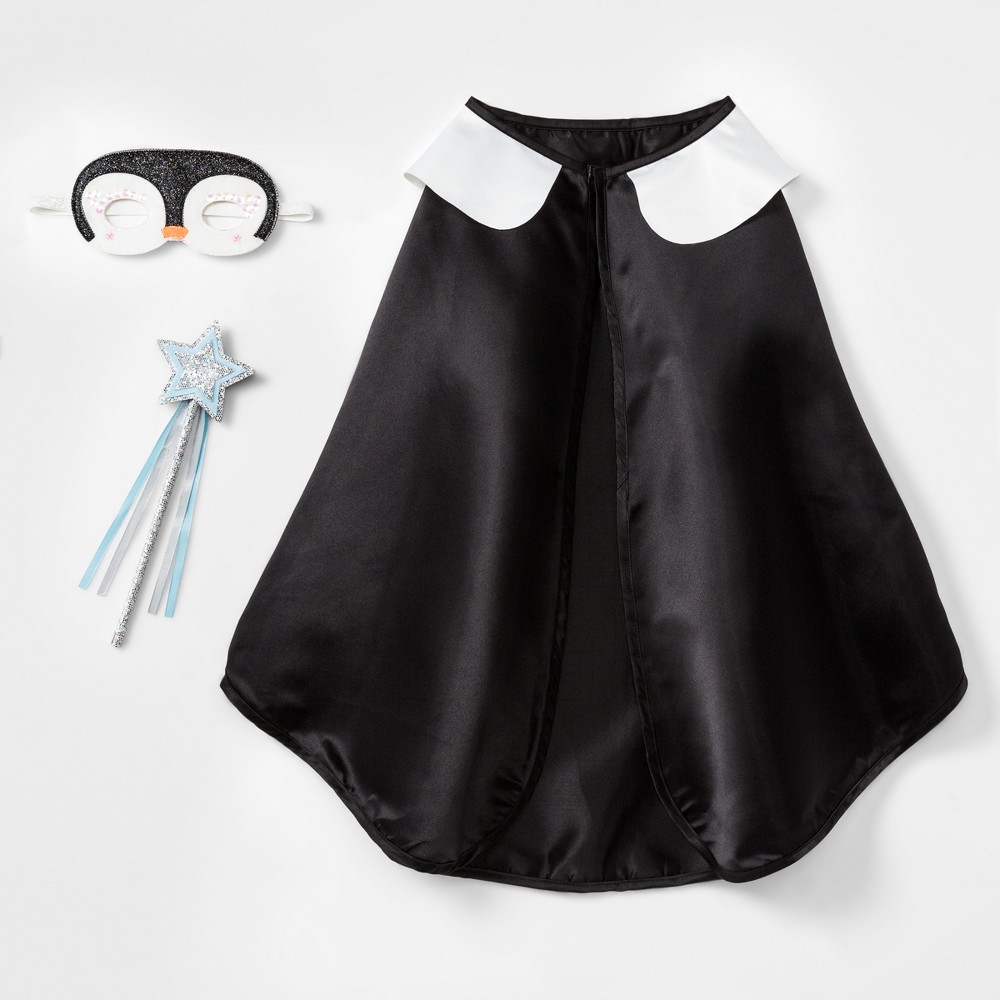 Girls' Penguin Costume Set - Cat & Jack Black One Size, Blue