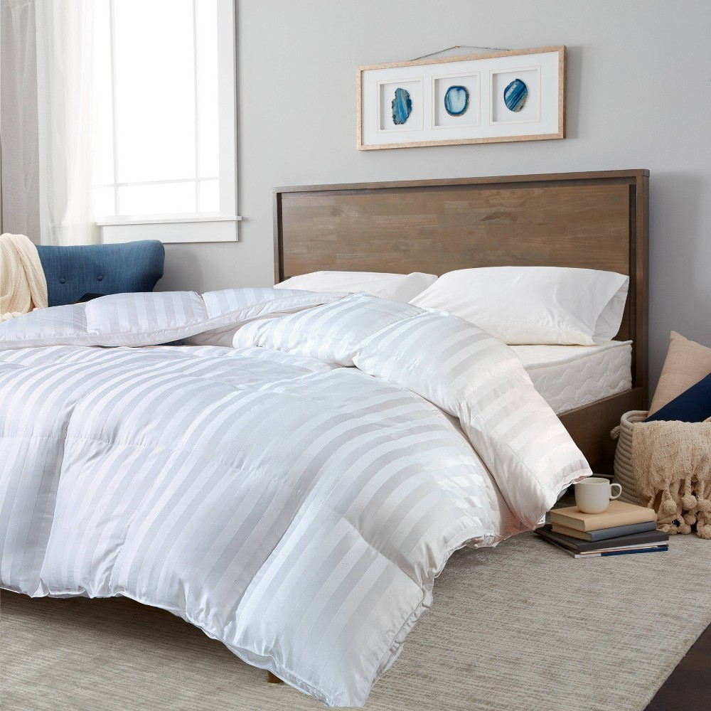 Image of 100% Cotton Duraloft Down Alternative Comforter (Twin) White - Blue Ridge Home Fashions