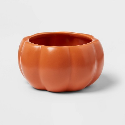 11oz Stoneware Pumpkin Candy Dish Orange - Threshold™