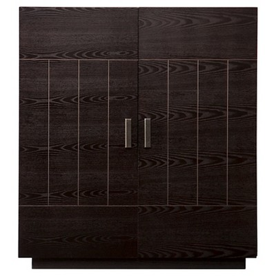 Elgin Bar Cabinet Wood/Black - Aiden Lane