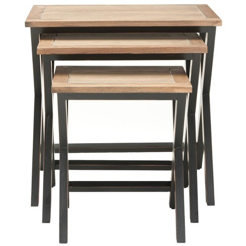 Marsha Accent Table Black/Oak - Safavieh - image 1 of 4