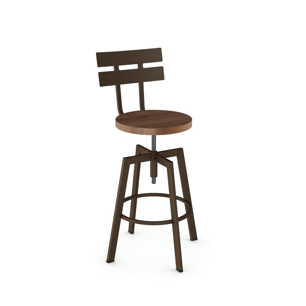 Amisco Rawdon Adjustable Stool Brown