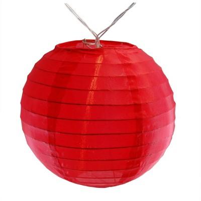 10ct Nylon LED Battery Powered String Lights Red