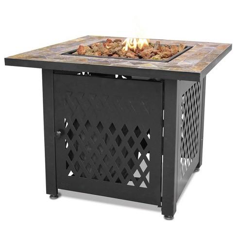 Endless Summer Decorative Slate Tile, Gas Outdoor Fire Pit