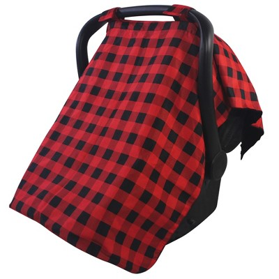 Hudson Baby Unisex Baby Reversible Car Seat and Stroller Canopy, Buffalo Plaid, One Size