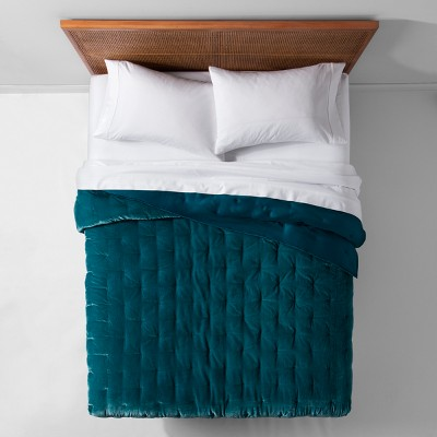 Teal Velvet Tufted Stitch Quilt (Full/Queen)- Opalhouse™