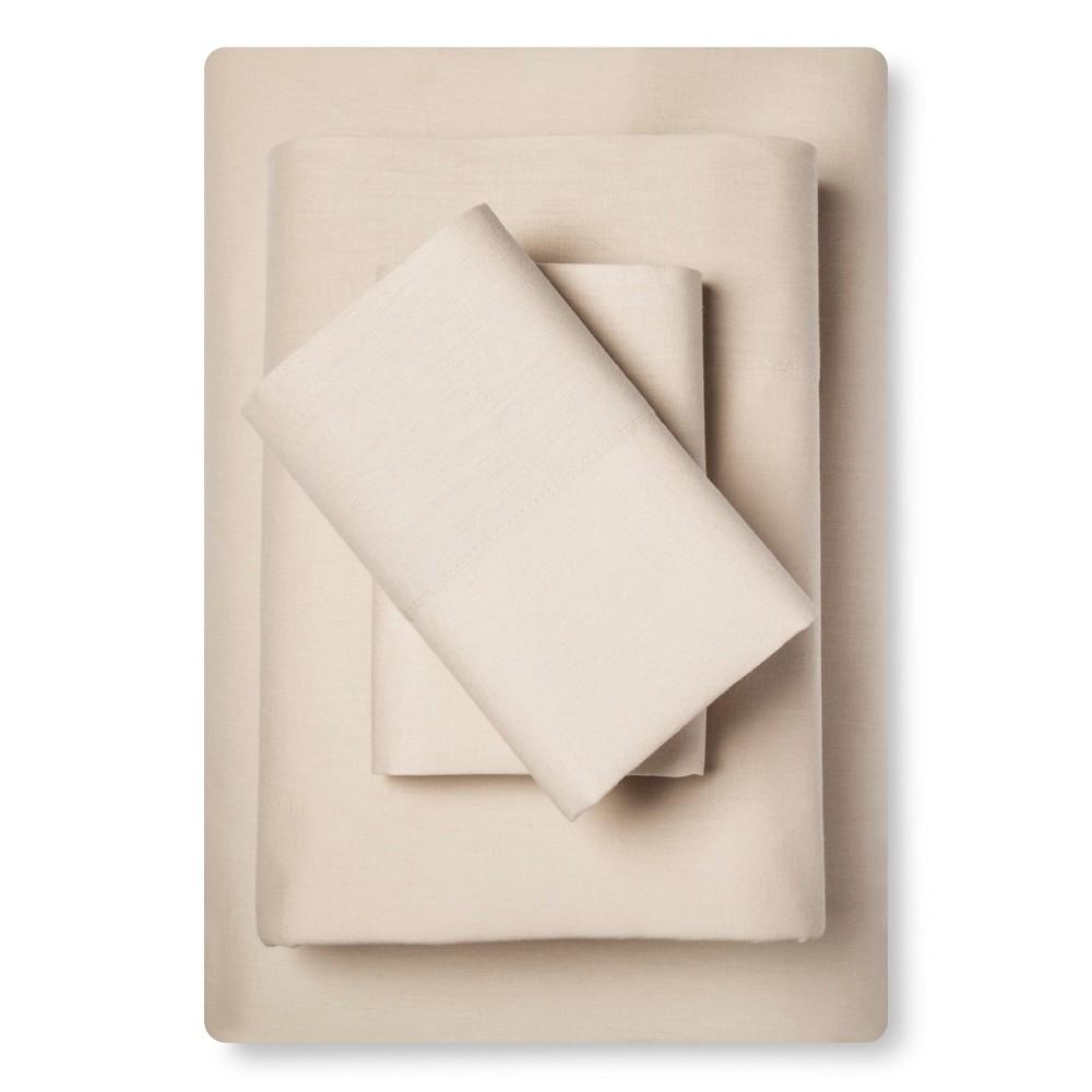 Sheet Set Cotton Linen Blend Queen Natural