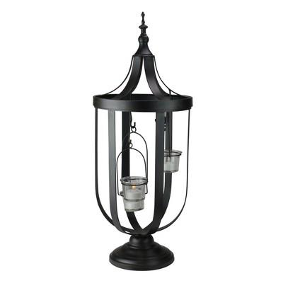 "Melrose 22"" Antique-Style Birdcage Glass Votive Candle Holder"