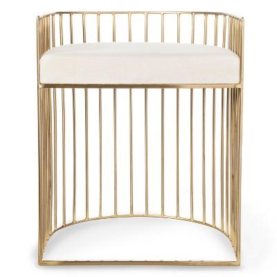 Sensational Metal Caged Accent Stool Gold Nate Berkus Target Lamtechconsult Wood Chair Design Ideas Lamtechconsultcom