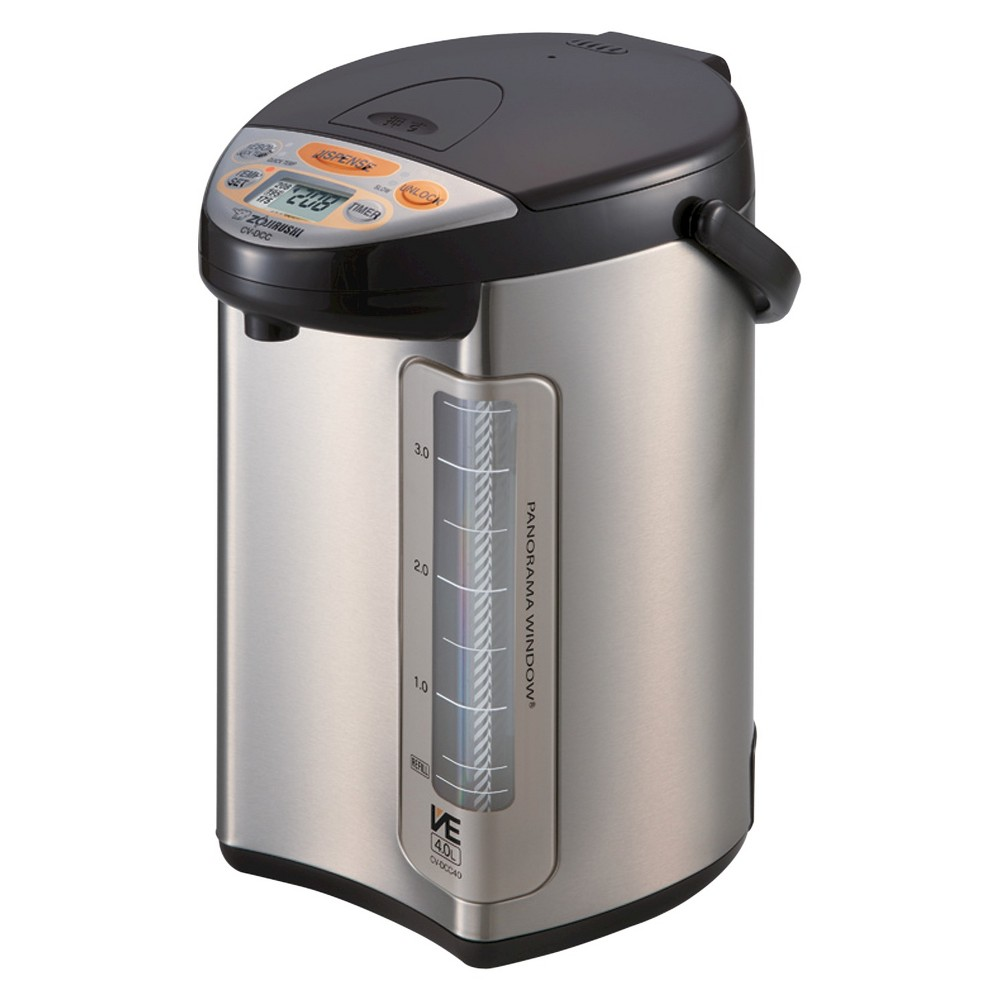 Zojirushi Vacuum-Electric Hybrid Water Boiler & Warmer 4 L.- Brown, Stainless Dark Brown 50562895