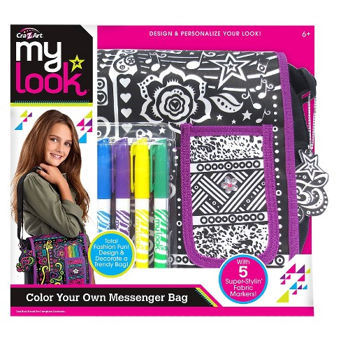 My Look Color Your Own Messenger Bag By Cra Z Art Target