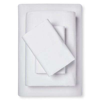 Sheet Set Cotton Linen Blend Queen White