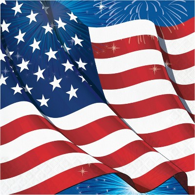 48ct Fireworks & Flags Napkins