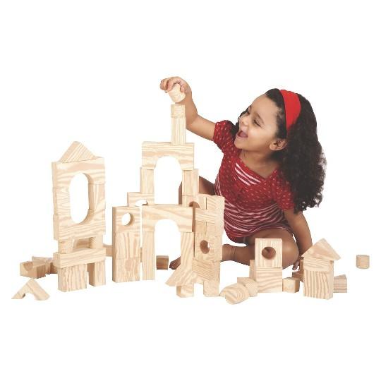 Edushape Wood-like 80 pc Firm Foam Blocks image number null