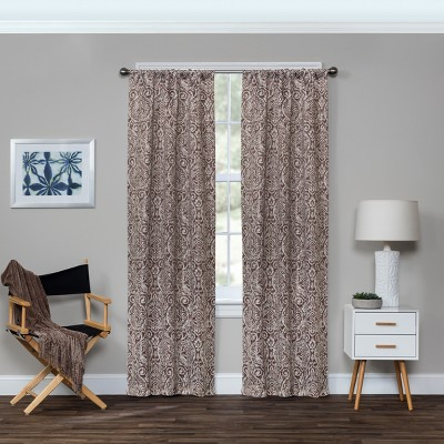 Bryton Thermaweave Blackout Curtain Panels Espresso Brown 84  - Eclipse