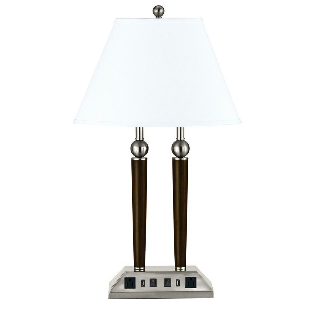60W X 2 Metal Double Rod Desk Lamp Black (Lamp Only) - Cal Lighting